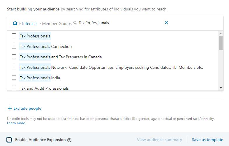 LinkedIn Ads - Member Group Targeting