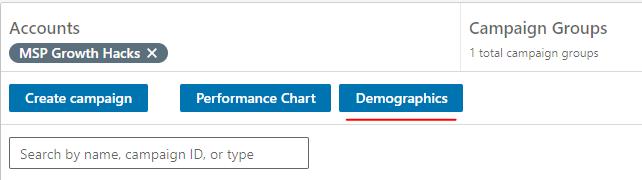 LinkedIn Ads - Demographic Data
